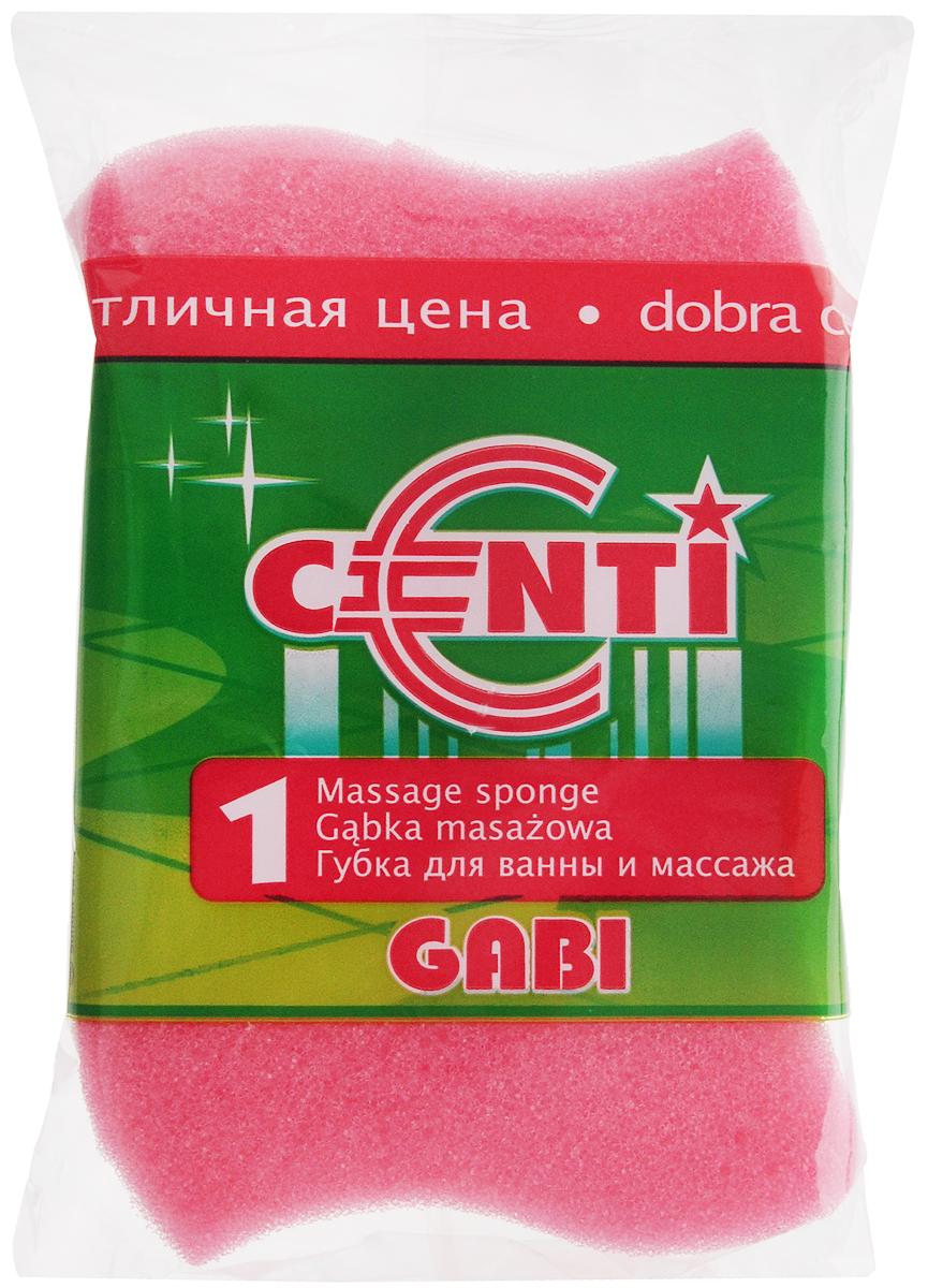 Губка для тела Centi Gabi, массажная, цвет: розовый, белый, 13,5 х 9,5 х 4,5 см5010777139655Губка для тела Centi Gabi изготовлена из мягкого экологически чистого полимера. Пористая структура губки создает воздушную пену даже при небольшом количестве геля для душа. Эффективно очищает и массирует кожу, улучшая кровообращение и повышая тонус.