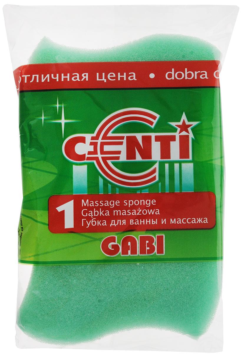 Губка для тела Centi Gabi, массажная, цвет: зеленый, белый, 13,5 х 9,5 х 4,5 см5010777139655Губка для тела Centi Gabi изготовлена из мягкого экологически чистого полимера. Пористая структура губки создает воздушную пену даже при небольшом количестве геля для душа. Эффективно очищает и массирует кожу, улучшая кровообращение и повышая тонус.