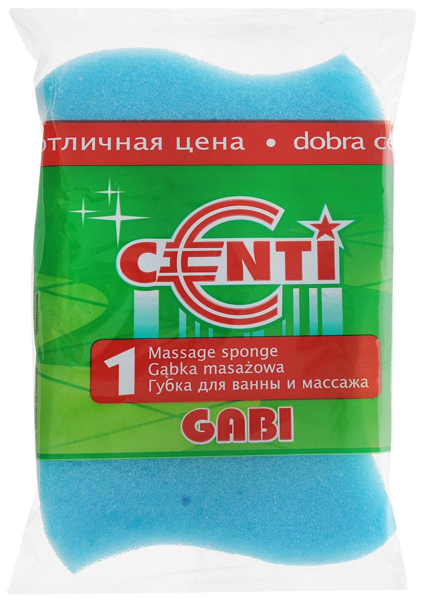 Губка для тела Centi Gabi, массажная, цвет: голубой, белый, 13,5 х 9,5 х 4,5 см5010777139655Губка для тела Centi Gabi изготовлена из мягкого экологически чистого полимера. Пористая структура губки создает воздушную пену даже при небольшом количестве геля для душа. Эффективно очищает и массирует кожу, улучшая кровообращение и повышая тонус.