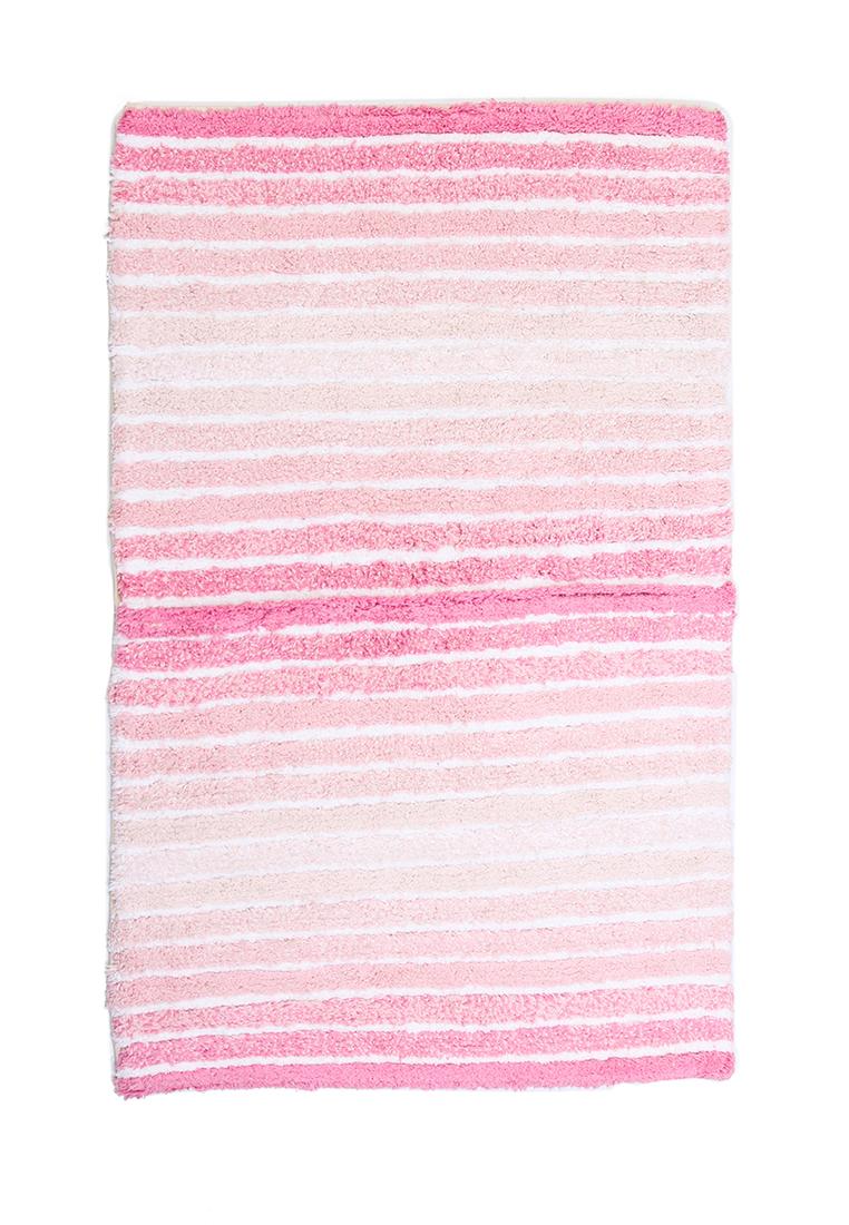 Коврик для ванной Arloni, самотканый, цвет: розовый, 50 х 80 смRG-D31SСамотканый коврик для ванной Arloni, выполненный из 100% хлопка, декорирован принтом в полоску. Коврик долго прослужит в вашем доме, добавляя тепло и уют, а также внесет неповторимый колорит в интерьер ванной комнаты.