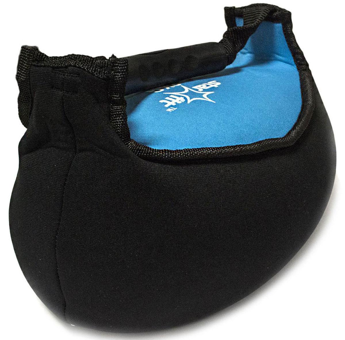 Гиря мягкая неопреновая  Starfit , цвет: черный, синий, 8 кг - Оборудование для силовых тренировок