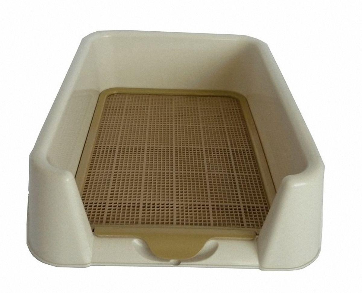 Туалет для собак Triol, с сеткой, 40 х 40 х 15,5 см0120710Маленький прямоугольный туалет с бортами и сеткой. Съемная сетка входящая в комплект оставит лапки вашего питомца сухими.