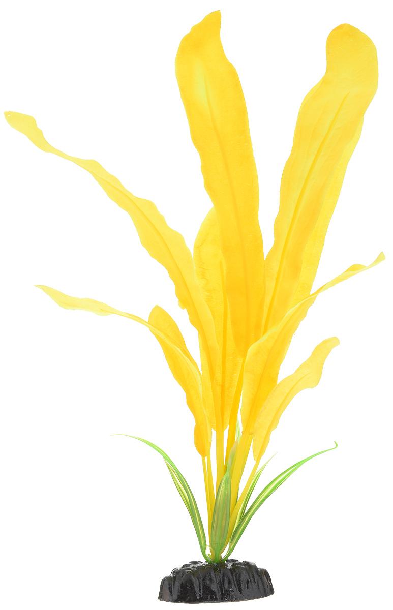 Растение для аквариума Barbus Эхинодорус, шелковое, высота 30 см. Plant 051/30FILTER 019Растение для аквариума Barbus Эхинодорус, выполненное из качественного шелка, станет прекрасным украшением вашего аквариума. Шелковое растение идеально подходит для дизайна всех видов аквариумов. В воде происходит абсолютная имитация живых растений. Изделие не требует дополнительного ухода и просто в применении. Растение абсолютно безопасно, нейтрально к водному балансу, устойчиво к истиранию краски, подходит как для пресноводного, так и для морского аквариума. Растение для аквариума Barbus поможет вам смоделировать потрясающий пейзаж на дне вашего аквариума или террариума. Высота растения: 30 см.