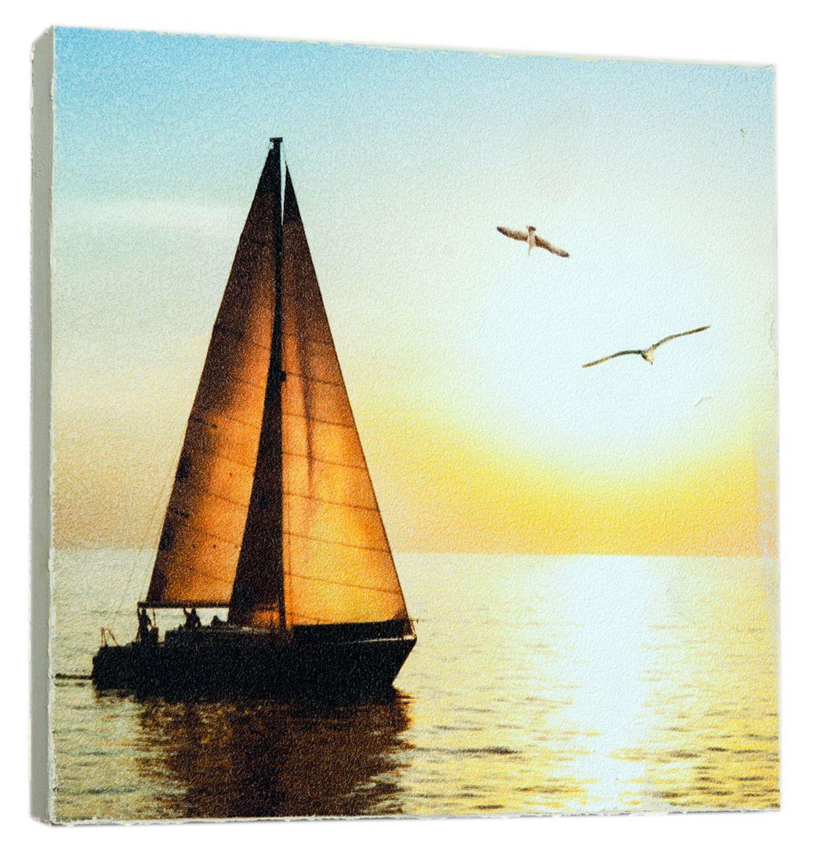 Картина Mister Poster Красивая яхта, 14,5 х 14,5 смRG-D31SКартина Mister Poster - это высококачественная репродукция на деревянной раме. Лицевая поверхность имитирует штукатурку или натуральный холст, края окрашены вручную специальным декоративным составом.Современные технологии, уникальное оборудование и оригинальные чернила, используемые при изготовлении, делают постер устойчивым к выцветанию, а также гарантируют стойкость к воздействию негативных внешних факторов. Интерьер дома и офиса, в котором находится человек, в значительной степени влияет на его настроение и работоспособность. Правильное оформление интерьера создает благоприятный психологический климат, улучшает настроение и мотивирует. Добавьте «красок» в ваш интерьер и, возможно, в вашу жизнь.