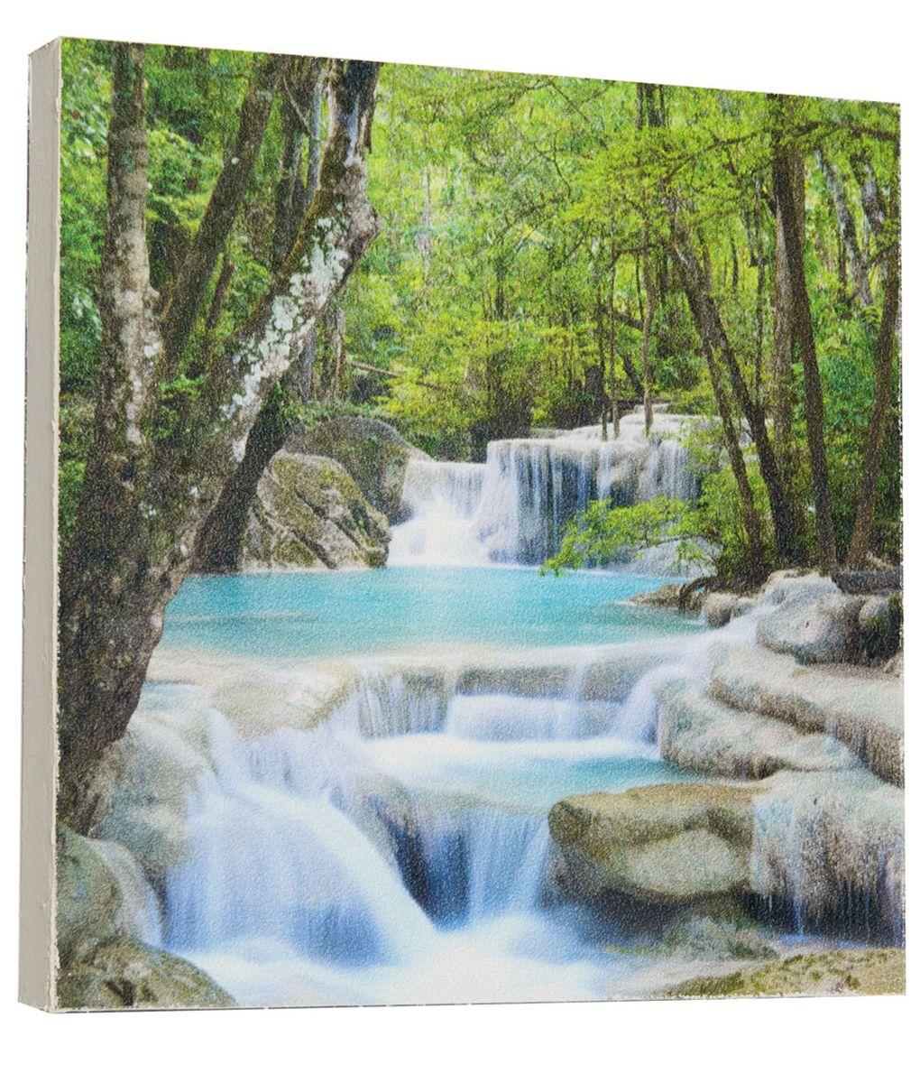 Картина Mister Poster Водопад посреди леса, 22 х 22 смRG-D31SКартина Mister Poster - это высококачественная репродукция на деревянной раме. Лицевая поверхность имитирует штукатурку или натуральный холст, края окрашены вручную специальным декоративным составом.Современные технологии, уникальное оборудование и оригинальные чернила, используемые при изготовлении, делают постер устойчивым к выцветанию, а также гарантируют стойкость к воздействию негативных внешних факторов. Интерьер дома и офиса, в котором находится человек, в значительной степени влияет на его настроение и работоспособность. Правильное оформление интерьера создает благоприятный психологический климат, улучшает настроение и мотивирует. Добавьте «красок» в ваш интерьер и, возможно, в вашу жизнь.