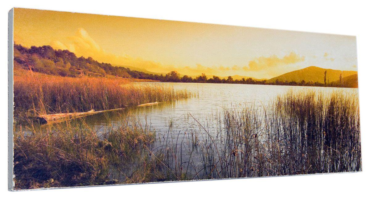 Картина Mister Poster Вечерний берег реки, 60 х 24 смRG-D31SКартина Mister Poster - это высококачественная репродукция на деревянной раме. Лицевая поверхность имитирует штукатурку или натуральный холст, края окрашены вручную специальным декоративным составом.Современные технологии, уникальное оборудование и оригинальные чернила, используемые при изготовлении, делают постер устойчивым к выцветанию, а также гарантируют стойкость к воздействию негативных внешних факторов. Интерьер дома и офиса, в котором находится человек, в значительной степени влияет на его настроение и работоспособность. Правильное оформление интерьера создает благоприятный психологический климат, улучшает настроение и мотивирует. Добавьте «красок» в ваш интерьер и, возможно, в вашу жизнь.