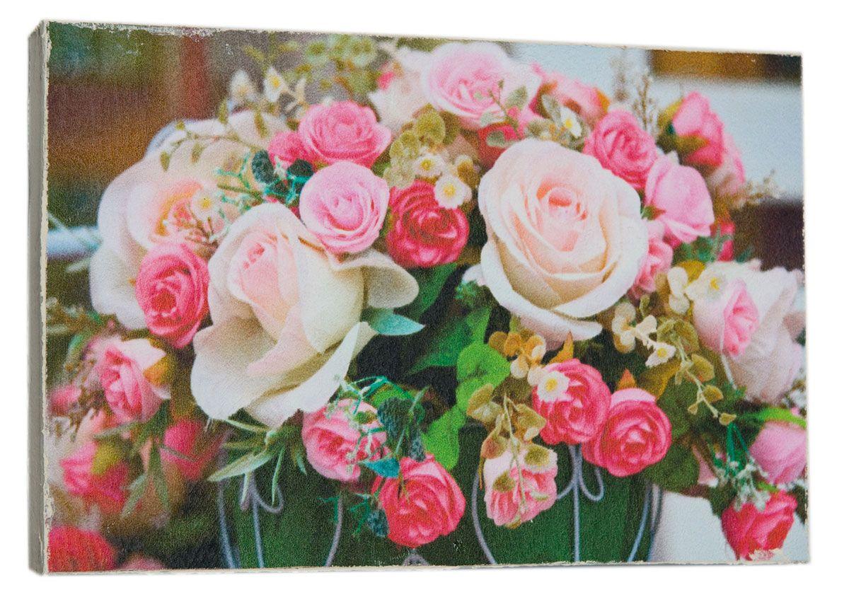 Картина Mister Poster Букет милых роз, 22 х 14,5 смPARADIS I 75013-1W ANTIQUEКартина Mister Poster - это высококачественная репродукция на деревянной раме. Лицевая поверхность имитирует штукатурку или натуральный холст, края окрашены вручную специальным декоративным составом.Современные технологии, уникальное оборудование и оригинальные чернила, используемые при изготовлении, делают постер устойчивым к выцветанию, а также гарантируют стойкость к воздействию негативных внешних факторов. Интерьер дома и офиса, в котором находится человек, в значительной степени влияет на его настроение и работоспособность. Правильное оформление интерьера создает благоприятный психологический климат, улучшает настроение и мотивирует. Добавьте «красок» в ваш интерьер и, возможно, в вашу жизнь.