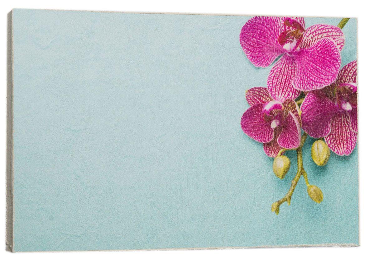 Картина Mister Poster Розовая орхидея на голубом фоне, 22 х 14,5 см12723Картина Mister Poster - это высококачественная репродукция на деревянной раме. Лицевая поверхность имитирует штукатурку или натуральный холст, края окрашены вручную специальным декоративным составом.Современные технологии, уникальное оборудование и оригинальные чернила, используемые при изготовлении, делают постер устойчивым к выцветанию, а также гарантируют стойкость к воздействию негативных внешних факторов. Интерьер дома и офиса, в котором находится человек, в значительной степени влияет на его настроение и работоспособность. Правильное оформление интерьера создает благоприятный психологический климат, улучшает настроение и мотивирует. Добавьте «красок» в ваш интерьер и, возможно, в вашу жизнь.