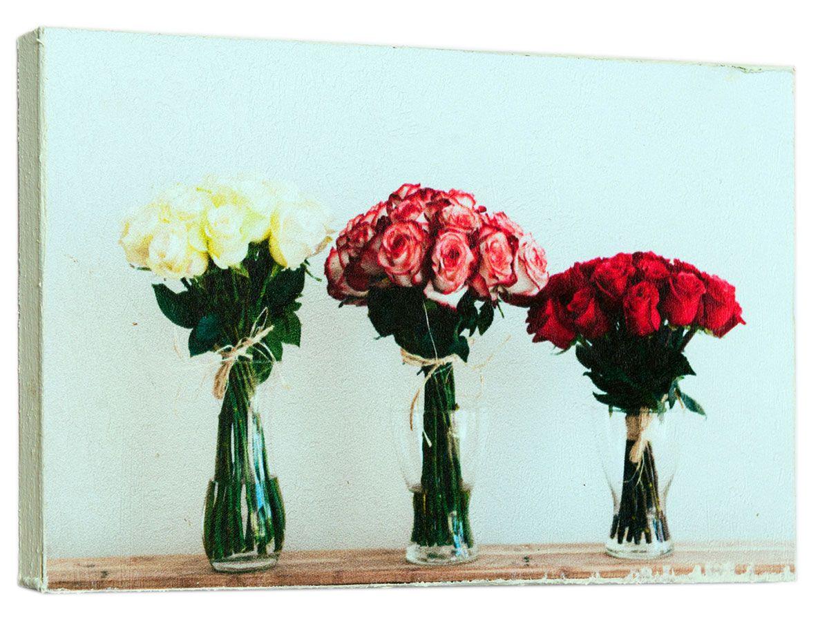 Картина Mister Poster Шикарные букеты роз, 22 х 14,5 см74-0060Картина Mister Poster - это высококачественная репродукция на деревянной раме. Лицевая поверхность имитирует штукатурку или натуральный холст, края окрашены вручную специальным декоративным составом.Современные технологии, уникальное оборудование и оригинальные чернила, используемые при изготовлении, делают постер устойчивым к выцветанию, а также гарантируют стойкость к воздействию негативных внешних факторов. Интерьер дома и офиса, в котором находится человек, в значительной степени влияет на его настроение и работоспособность. Правильное оформление интерьера создает благоприятный психологический климат, улучшает настроение и мотивирует. Добавьте «красок» в ваш интерьер и, возможно, в вашу жизнь.