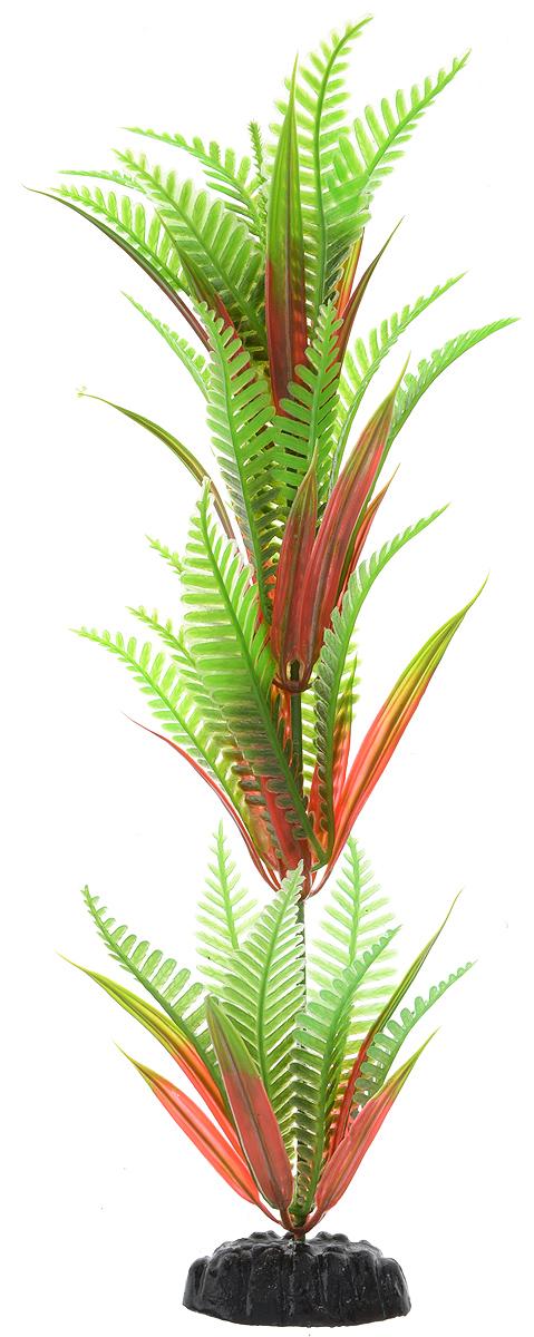 Растение для аквариума Barbus Папоротник, пластиковое, высота 30 см0120710Растение для аквариума Barbus Папоротник, выполненное из качественного пластика, станет прекрасным украшением вашего аквариума. Пластиковое растение идеально подходит для дизайна всех видов аквариумов. Оно абсолютно безопасно, нейтрально к водному балансу, устойчиво к истиранию краски, подходит как для пресноводного, так и для морского аквариума. Растение для аквариума Barbus поможет вам смоделировать потрясающий пейзаж на дне вашего аквариума или террариума. Высота растения: 30 см.
