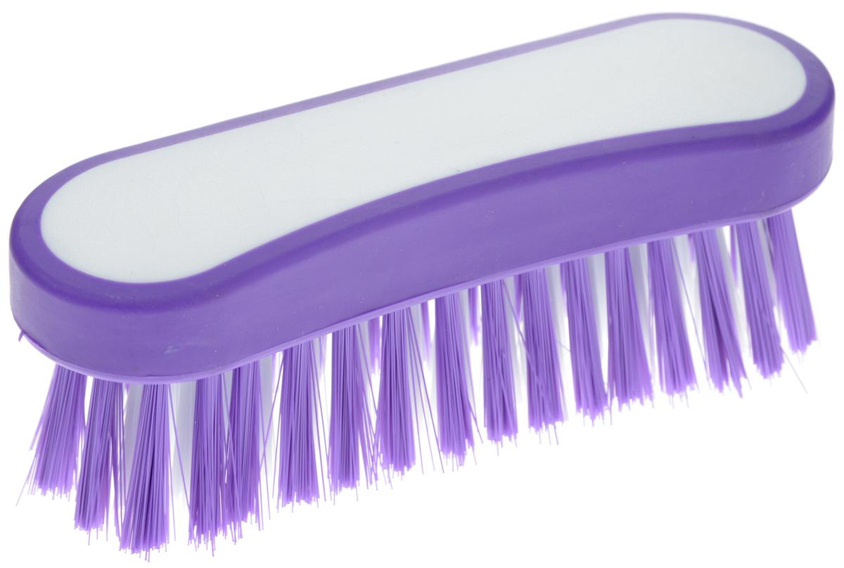 Еврощетка Home Queen Фигурная, универсальная, цвет: белый, фиолетовыйCLP446Еврощетка Home Queen Фигурная, выполненная из полипропилена и нейлона, является универсальной щеткой для любых поверхностей, эффективно очищающей загрязнения. Изделие имеет эргономичную форму для большего удобства использования.Размер: 12,5 см х 4 см х 4,5 см.Длина ворсинок: 3 см.