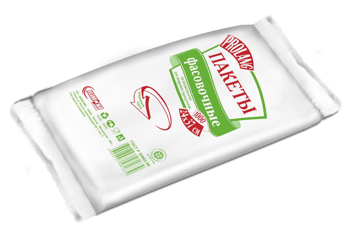 Пакеты фасовочные Prolang, 24 х 36 см, 1000 шт1639Картонная подложка, плотный полиэтилен и фронтальное отверстие делают упаковку этих пакетов максимально удобной в применении. Сырьё, из которого изготавливают пакеты, химически пассивно: полиэтилен не вступает в реакцию с пищевыми продуктами и поэтому безопасен для них.