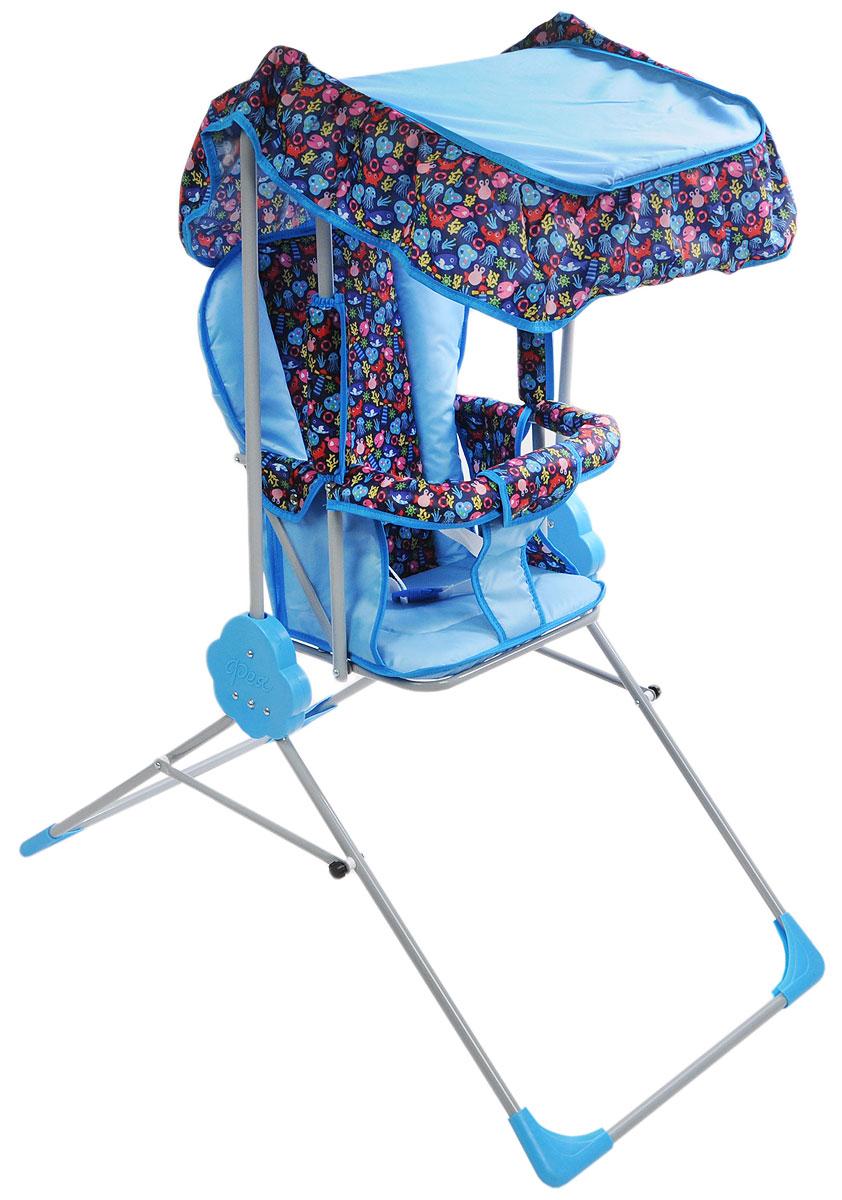 Фея Качели детские Малыш с тентом цвет голубой темно-синий