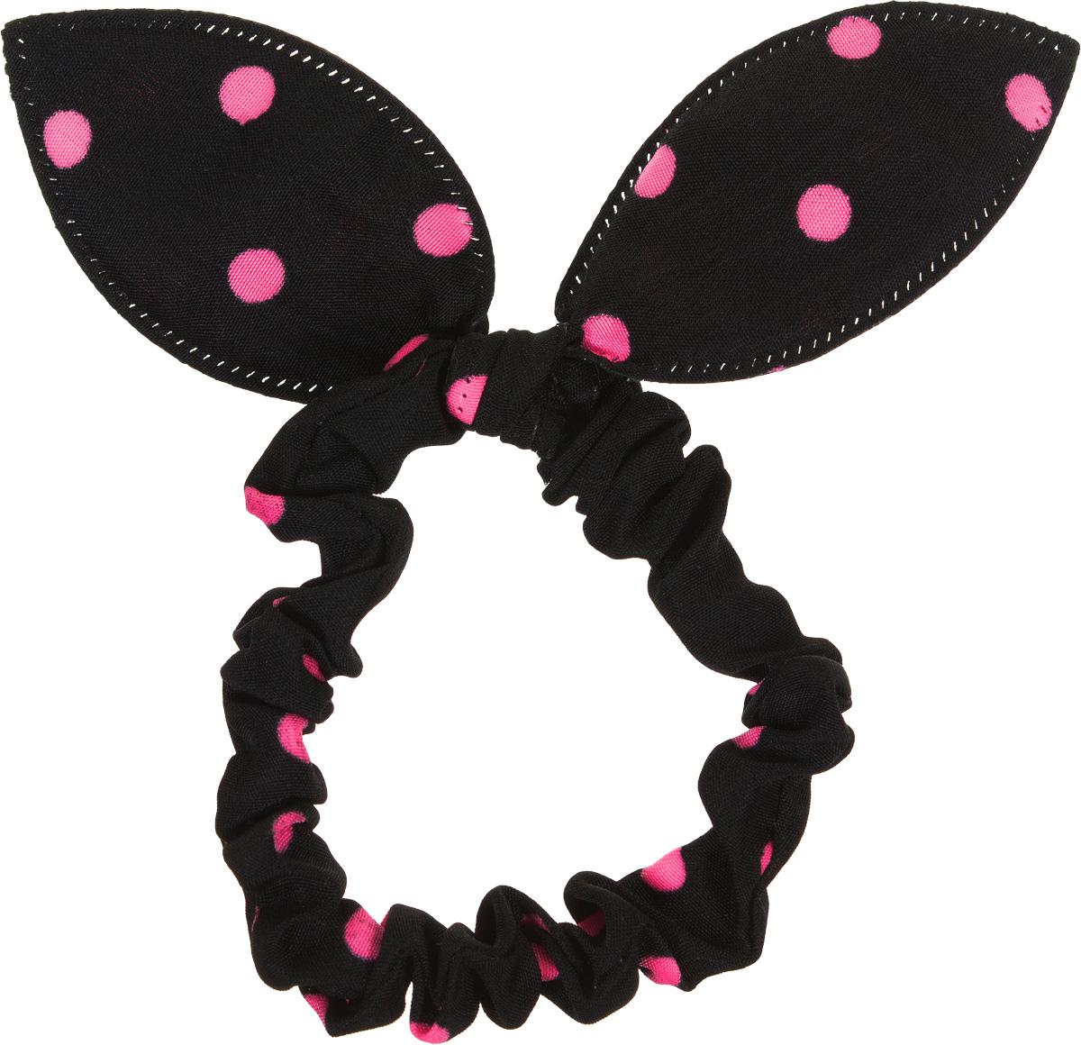 Magic Leverage Резинка для волос, цвет: розовый, черныйMP59.4DСтильная резинка для волос Magic Leverage подчеркнет красоту вашей прически. Резинка выполнена из мягкого текстильного материала и оформлена стильным принтом в горох, а также дополнена оригинальным бантиком, который будет великолепно смотреться в ваших волосах. С помощью такой резинки вы сможете создать множество оригинальных причесок. Яркость и удобство резинки для волос делают ее практичным и модным аксессуаром.