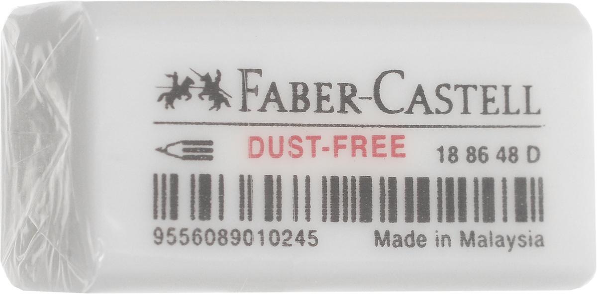 Faber-Castell Ластик Dust Free цвет белый187298Ластик Faber-Castell Dust Free - незаменимый аксессуар для любого школьника или студента. Качественный ластик из ПВХ в защитной упаковке не содержит фталаты, пригоден для графитных простых и цветных карандашей. Ластик имеет однородную структуру, не оставляет грязи, не портит бумагу.Благодаря компактному размеру, ластик помещается в любой школьный пенал.