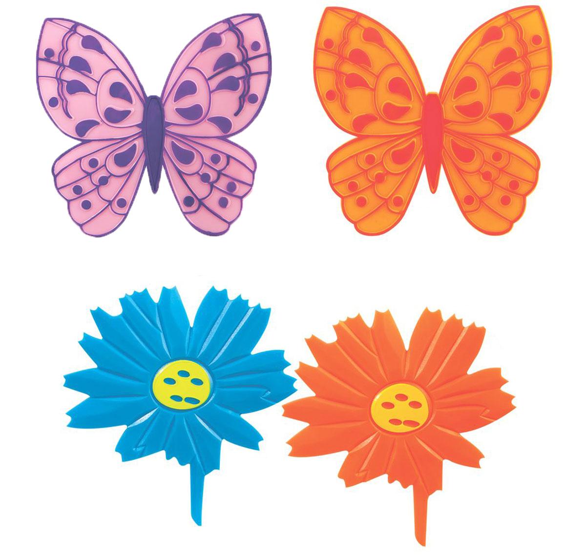 Valiant Мини-коврик для ванной комнаты Бабочки и цветочки на присосках 4 шт68/5/2Мини-коврик для ванной комнаты Valiant Бабочки и цветочки - это модный и экономичный способ сделать вашу ванную комнату более уютной, красивой и безопасной.В наборе представлены 4 мини-коврика в виде бабочек и цветочков. Коврики прочно крепятся на любую гладкую поверхность с помощью присосок. Расположите коврики там, где вам необходимо яркое цветовое пятно и надежная противоскользящая опора - на поверхности ванной, на кафельной стене или стенке душевой кабины или на полу - как дополнение вашего коврика стандартного размера.Мини-коврики Valiant незаменимы при купании маленького ребенка: он не поскользнется и не упадет, держась за мягкую и приятную на ощупь рифленую поверхность коврика.Рекомендации по уходу: после использования тщательно смойте остатки мыла или других косметических средств с коврика.