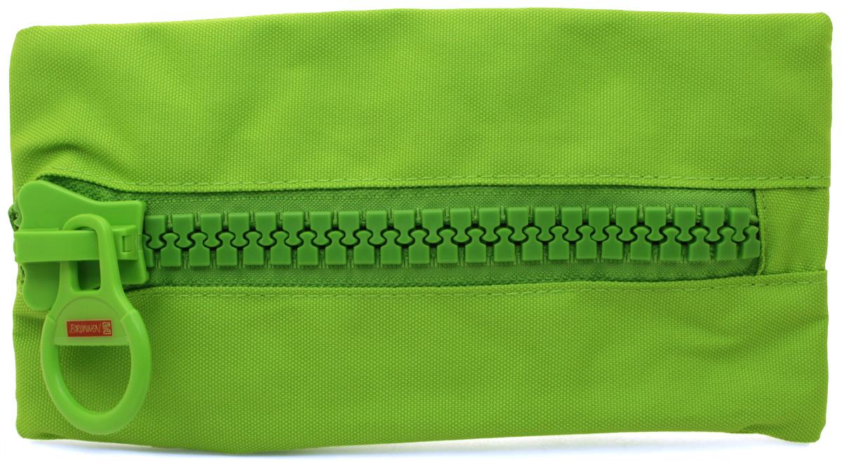 Brunnen Пенал BigZip цвет зеленый84645Пенал Brunnen BigZip изготовлен из качественного материала. Он удобен для разных мелочей и пишущих принадлежностей. Пенал застегивается на крупную пластиковую молнию.