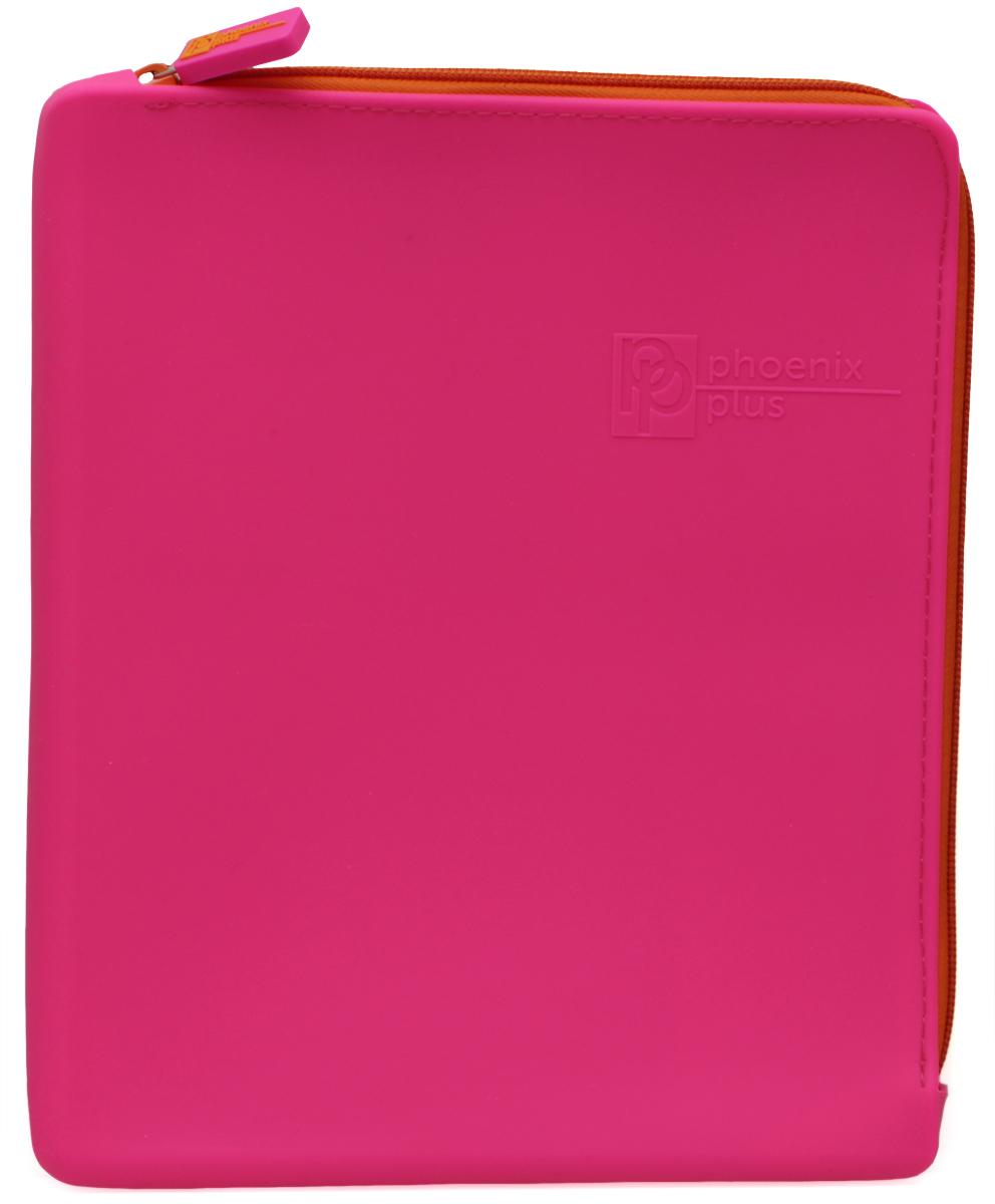 Феникс+ Папка для тетрадей формат А5+ цвет розовыйFS-36054Папка для тетрадей Феникс+ - это удобный и функциональный инструмент, который идеально подойдет для хранения различных бумаг формата А5+, а также школьных тетрадей и письменных принадлежностей.Папка изготовлена из прочного силиконаи надежно закрывается на застежку-молнию. Папка практична в использовании и надежно сохранит ваши бумаги и сбережет их от повреждений, пыли и влаги, а закругленные уголки обеспечат долговечность и опрятный вид папки.