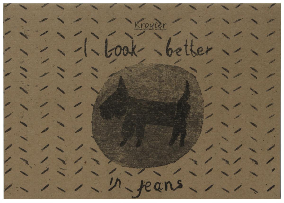 Kroyter Тетрадь I Look Better in Jeans 40 листов в линейку72523WDТетрадь Kroyter I Look Better in Jeans отлично подойдет для различных записей.Обложка, выполненная из крафт-картона, позволит сохранить тетрадь в аккуратном состоянии на протяжении всего времени использования. Внутренний блок тетради, соединенный посредством спирали, состоит из 40 листов белой бумаги. Стандартная линовка в линейку.