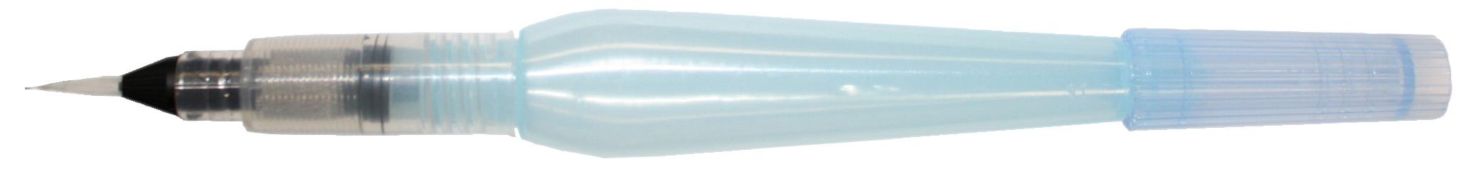 Pentel Кисть Aquash Brush с резервуаром тонкаяC13S041944Кисть с резервуаром для воды Pentel Aquash Brush используется для акварельных красок. Удобна для рисования и в классе, и на пленэре.Уникальный инструмент для рисованияобъединяет в себе синтетическую тонкую кисть (волокно кисти - нейлон) и мягкий пластиковый резервуар для воды (10 мл).Длина изделия: 15,5 см.Максимальный диаметр: 17,9 мм. Длина наконечника кисти: 11,5 мм.