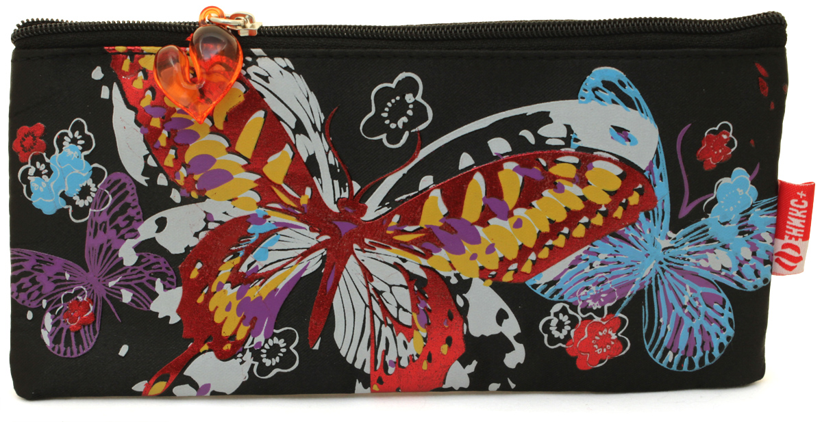 Феникс+ Пенал Красивая бабочка цвет черный72523WDПенал Феникс+ Красивая бабочка станет не только практичным, но и стильным школьным аксессуаром для любой школьницы.Пенал изготовлен из прочного материала и состоит из одного вместительного отделения, закрывающегося на застежку-молнию. Язычок на застежке-молнии выполнен в виде сердечка. Пенал оформлен красочным принтом с изображением бабочки и цветочков.Такой пенал станет незаменимым помощником для школьника, с ним ручки и карандаши всегда будут под рукой и больше не потеряются.