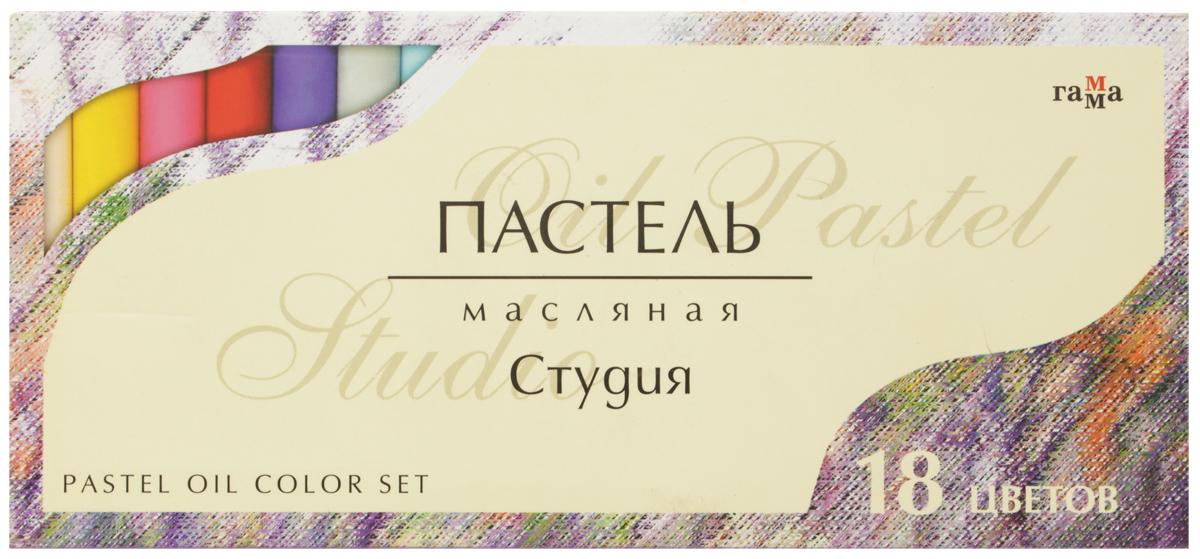 Гамма Пастель масляная Студия 18 цветовC13S041944Масляная пастель Гамма Студия предназначена для живописи. В наборе мягкие масляные мелки с круглым сечением 18 цветов. Каждый мелок пастели имеет индивидуальную обертку. Пигмент грифеля обеспечивает особую яркость и насыщенность цветов и мягкое нанесение штрихов. Грифель устойчив к механическим деформациям, не ломается, не крошится.