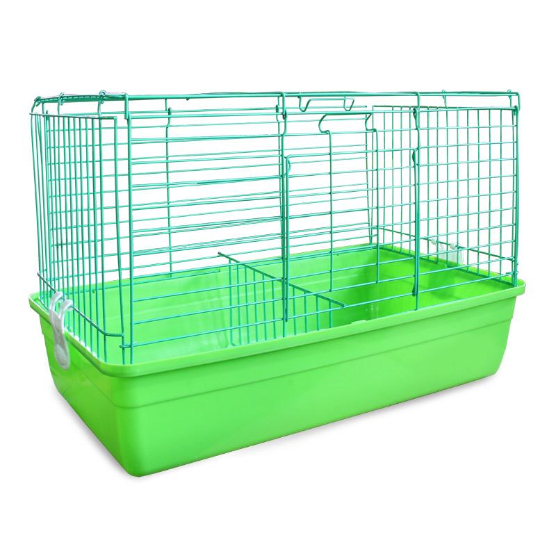 Клетка для кроликов Triol, цвет: салатовый, 59 см х 40 см х 36 см клетка triol n 1601цинк для птиц 34 5 26 44см