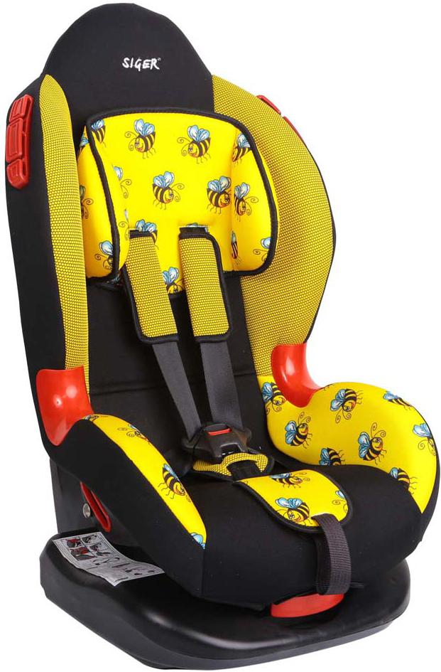 Siger Art Автокресло Кокон Пчелка от 9 до 25 кгKRES0313Детское автокресло Siger Art Кокон. Пчелка разработано для детей от 1 года до 7 лет, весом от 9 до 25 кг. Относится к возрастной группе 1/2.Автокресло имеет выраженную тыльную и боковую защиты, что обеспечивает безопасность при резких поворотах и боковых ударах. Замок внутренних ремней безопасности обладает повышенной надежностью, внутренние ремни регулируются по высоте в зависимости от роста ребенка. Для детишек в возрасте от 1 до 4 лет можно регулировать наклон кресла в шести положениях.Мягкий подголовник, специальная ортопедическая спинка и накладки внутренних ремней повышают уровень комфорта во время поездки. Специальные пластиковые накладки и направляющие штатного ремня гарантируют правильное прохождение ремня безопасности. Износостойкий съемный чехол выполнен из нетоксичного гипоаллергенного материала.Детские удерживающие устройства Siger разработаны и выполнены в России с учетом анатомии российских детей. Двухпозиционная регулировка центральной лямки позволяет адаптировать внутренние ремни под зимнюю и летнюю одежду ребенка.Автокресло успешно прошло все необходимые краш-тесты и имеет сертификат соответствия техническому регламенту РФ и таможенному союзу. В детском автомобильном кресле Siger ваш ребенок будет путешествовать в безопасности и с удовольствием!