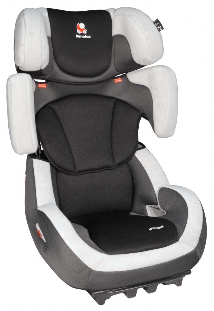 Renolux Автокресло Step 23 цвет черный серыйWTID03Автокресло Renolux Step 23 группа 2/3 предназначено для перевозки детей от 15 до 36 килограмм (примерно с 3,5 лет, ростом от 95 см, до 12 лет). Супер-адаптируемое детское автокресло, которое растёт вместе с вашим ребёнком. Просто потяните за ручку с обратной стороны подголовника и кресло увеличится в высоту и в ширину. Широкое и удобное, в нем ребёнку будет комфортно даже в длительных поездках. Кресло имеет два положения наклона спинки для более удобного расположения в машине. Высота и ширина кресла под рост ребёнка регулируется одним движением, вместе с привязными ремнями. Усиленная боковая защита. Небольшой вес автокресла (около 7 кг) позволяет легко перенести автокресло из автомобиля в автомобиль или домой. Чехол автокресла съёмный, сделан из высококачественных материалов. Его можно легко снять и постирать при необходимости.Выбирая кресло Renolux, вы можете быть уверены, что оно спроектировано и произведено во Франции. Все кресла соответствуют самым жестким действующим на сегодняшний день в ЕС правилам ECE R44.04.CтандартыRenolux выше, чем установленные действующим европейским законодательством.