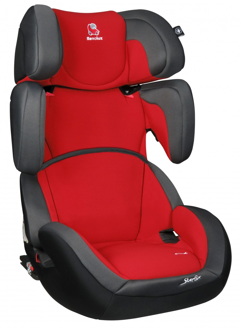 Renolux Автокресло StepFix Romeo цвет красный серый291663Автокресло StepFix группы 2/3 рассчитано на долговременное использование для перевозки детей от 3 до 12 лет. Конструкция кресла позволяет удобно и безопасно расположиться детям более 15 кг и менее 36 кг. Renolux StepFix - адаптируемое кресло-бустер которое растёт вместе с вашим ребёнком. Конструкция кресла позволяет удобно и безопасно расположиться малышам весом более 9 кг и детям весом менее 36 кг. Боковая защита, регулируемый подголовник и регулируемые ремни безопасности, а также возможность демонтажа специальной вставки позволяют креслу расти вместе с ребенком.Кресло Renolux StepFix оснащено стальным каркасом покрытого пенополиуретановой пеной повышенной плотности. Подголовник и спинка регулируются по высоте, имеется удобные подлокотники, анатомическая подушка и боковая защита.Регулируемая спинка и подголовник обеспечивают возможность максимально адаптировать кресло под рост ребенка, а регулируемый наклон спинки делает более комфортным передвижение во время сна. Съемный чехол из бамбукового волокна.Крепление и установка. Renolux StepFix устанавливается лицом по ходу движения. Крепится с помощью системы ISOFIX либо с помощью штатного ремня автомобиля вместе с ребенком. Поясная часть ремня проходит под подлокотниками кресла, а диагональная - через одну из специальных направляющих в подголовнике. Важно! Обе ветви ремня должны сходиться под подлокотником со стороны замка.Безопасность. Высокий уровень безопасности при использовании модели автокресла Renolux StepFix обеспечивается за счет спинки с усиленной боковой защитой.Детское автокресло Renolux StepFix имеет сертификат соответствия европейским стандартам безопасности ECE-44/04. Прохождение соответствующих испытаний и краш-тестов подтверждает высочайший уровень комфорта и безопасности представленной модели.