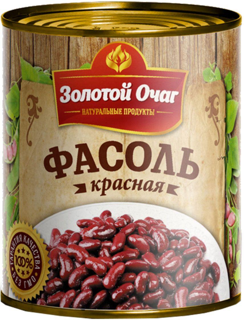 Золотой Очаг фасоль красная консервированная, 360 г