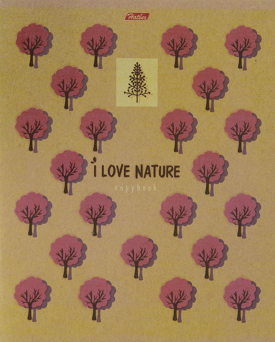 Hatber Тетрадь Деревья 48 листов в клетку72523WDТетрадь Hatber Деревья серии i Love Nature подойдет как школьнику, так и студенту.Обложка выполнена из плотного картона, что позволит сохранить тетрадь в аккуратном состоянии на протяжении всего времени использования. Обложка оформлена лаковыми изображениями деревьев. Внутренний блок тетради, соединенный двумя металлическими скрепками, состоит из 48 листов белой бумаги. Стандартная линовка в клетку голубого цвета дополнена полями.