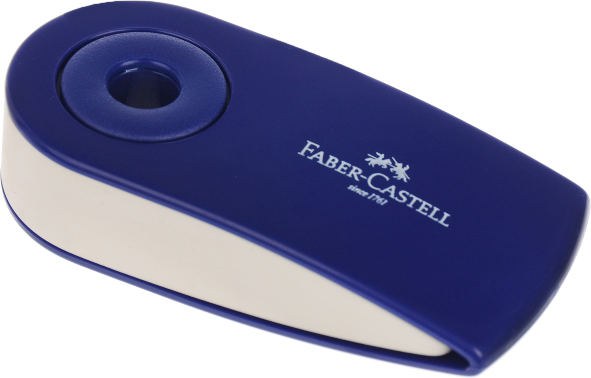 Faber-Castell Ластик Sleeve цвет синий 1824018680100_синийЛастик Faber-Castell Sleeve станет незаменимым аксессуаром на рабочем столе не только школьника или студента, но и офисного работника. Аккуратный ластик не оставляет грязных разводов. Кроме того, высококачественный ластик не повреждает бумагу даже при многократном стирании. Специальный подвижный колпачок защищает ластик от загрязнения.Не содержит ПВХ.