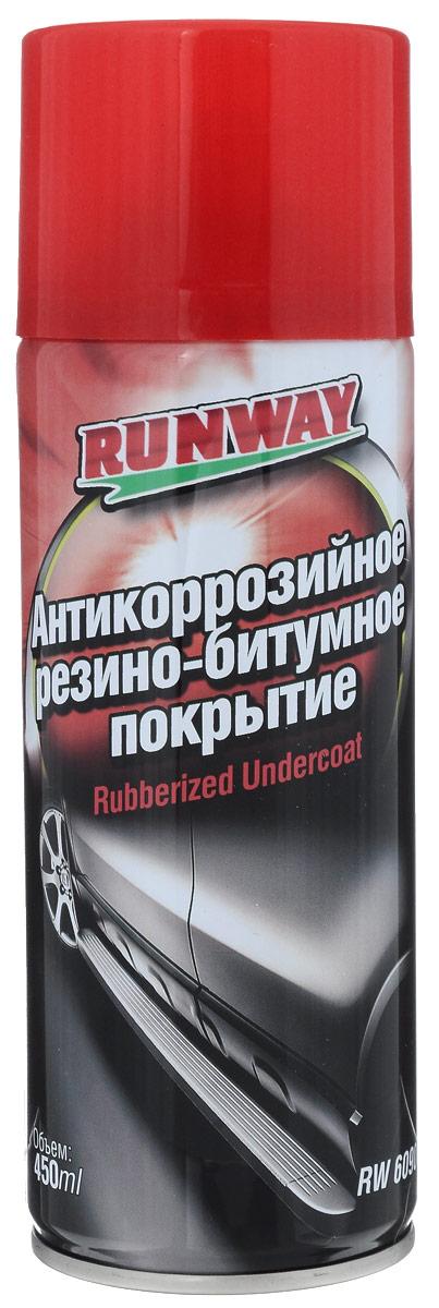 Антикоррозийное резино-битумное покрытие Runway, 450 мл6109Антикоррозийное резино-битумное покрытие Runway на основе высокопрочного полимера предназначено для антикоррозийной обработки металлических деталей кузова автомобиля, например, днища, порогов кузова, арок колес, нижних панелей дверей. Создает химически стойкое, ударопрочное, водонепроницаемое покрытие, препятствующее возникновению коррозии и ржавчины. Состав обладает шумопоглащающими свойствами, обеспечивая снижение шума в салоне автомобиля. Продлевает срок службы кузова.Товар сертифицирован.