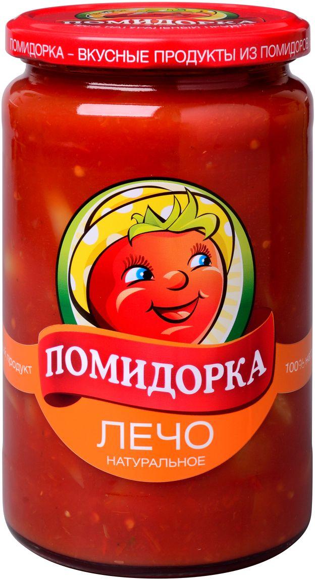Помидорка Лечо натуральное, 720 мл1574Лечо - это сочный, хрустящий сладкий перец в густом, натуральном кисло-сладком томатном соусе.
