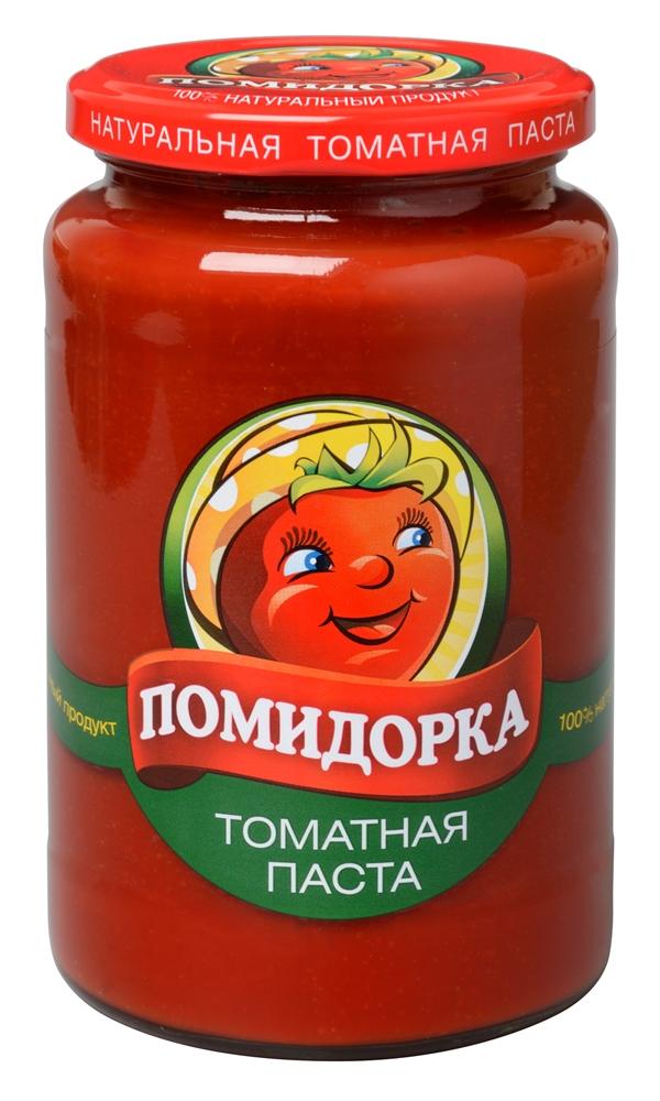 Помидорка томатная паста, 500 г2652Томатная паста Помидорка - гармоничный продукт с оригинальным, свежим вкусом, насыщенным цветом и ароматом. В ней отсутствуют искусственные пищевые добавки – это полностью натуральный продукт! Томатная паста Помидорка очень густая (содержит более 25% сухих веществ) и приготовлена только из помидоров.