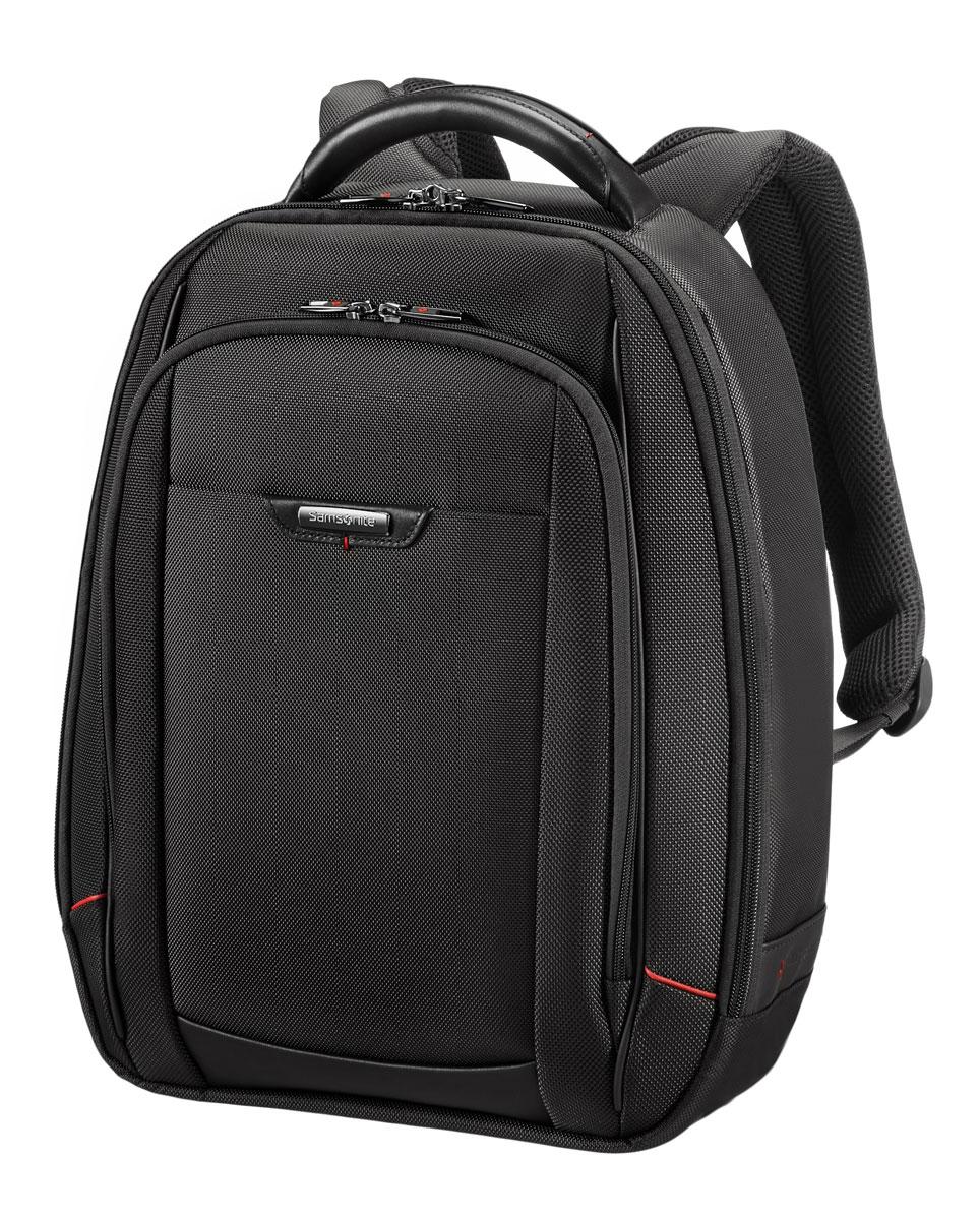 Рюкзак для ноутбука Samsonite, цвет: черный, 18 л, 34 х 17 х 46 смBP-001 BKАрмированный нейлон из натуральной кожи наппа,специальные смягчённые отделения для ноутбука и планшета