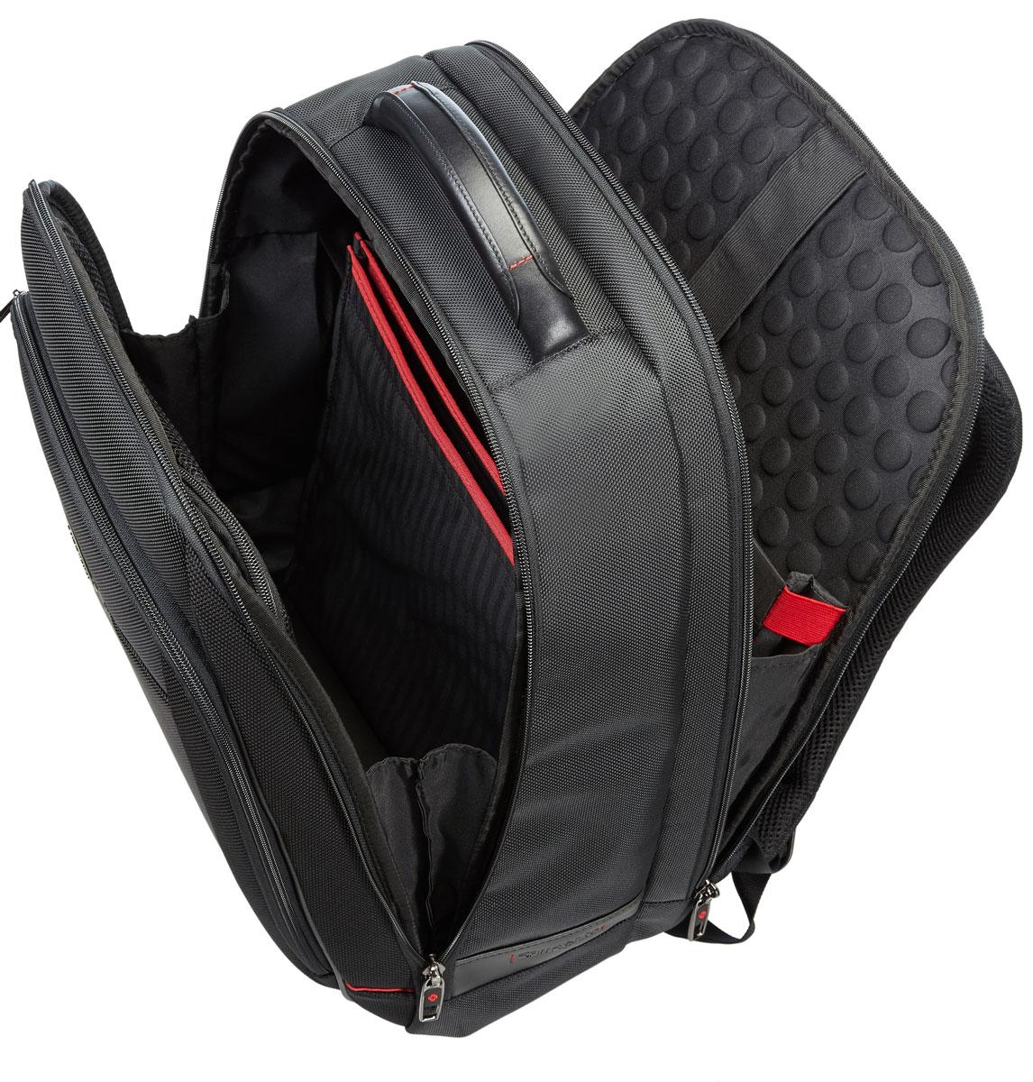 Рюкзак для ноутбука Samsonite Guardit, цвет: черный, 38 х 19 х 48 смBP-001 BKРюкзак для ноутбука Samsonite Guardit до 16 изготовлен из полиэстера. Коллекция Guardit является идеальным решением для пользователей ноутбуков,объединяет в себе базовую функциональность с отличным внешним видом. Особенности коллекции: передний карман с внутренней организацией, умный карман, верхняя ручка с прокладкой из неопрена.Размер рюкзака: 38 х 19 х 48 см Объем рюкзака: 26,5 л.