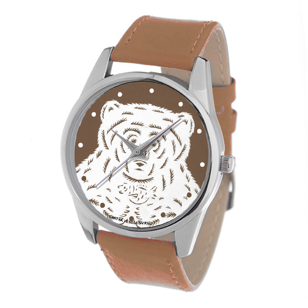 Zakazat.ru Часы Mitya Veselkov Медведь на коричневом. Color-123