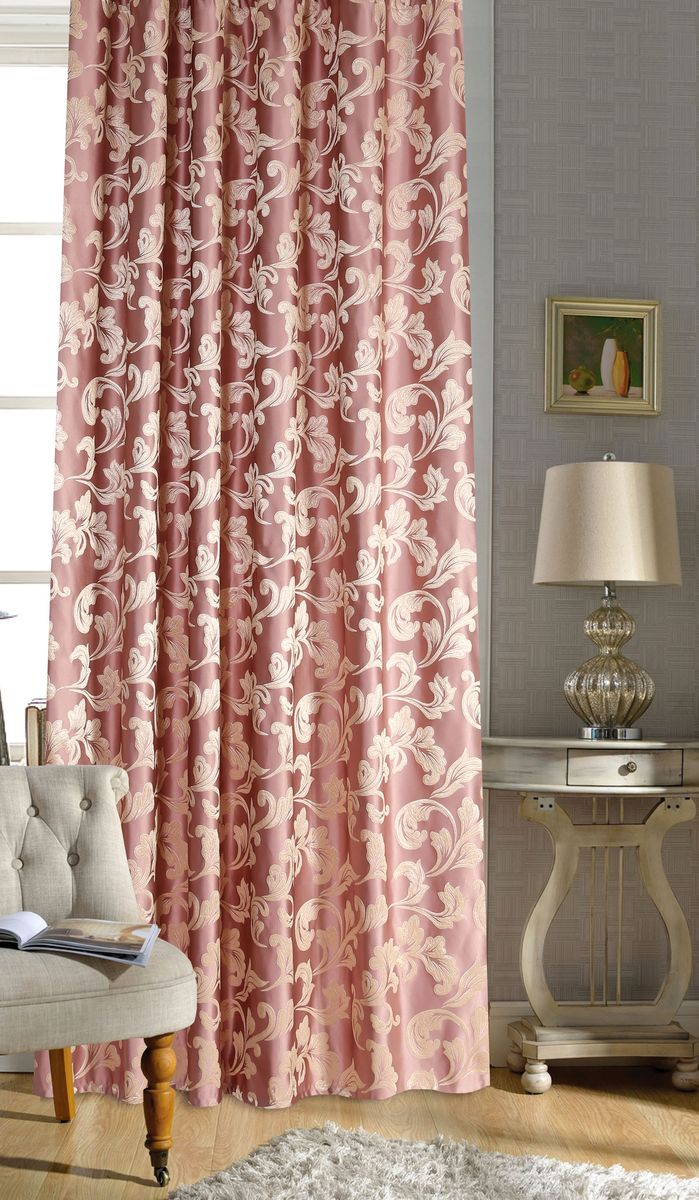 Штора Garden, на ленте, цвет: розовый, высота 260 см. С 536329 V5CLP446Garden – это универсальная и интересная серия домашних штор для яркого и стильного оформления окон и создания особенной уютной атмосферы. Эта штора великолепно смотрится как одна, так и в паре, в комбинации с нежной тюлевой занавеской, собранная на подхваты и свободно ниспадающая естественными складками. Такая штора, изготовленная полностью из прочного и очень практичного полиэстерового полотна, долговечна и не боится стирок, не сминается, не теряет своего блеска и яркости красок.