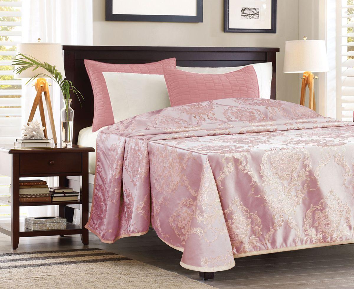 Покрывало Garden, цвет: розовый, 240 х 260 см. ПЖ 537205 V4FD-59Покрывало Garden органично впишется в любой интерьер. Изделие выполнено из жаккардовой ткани (100% полиэстер), обработано кантом по краю имеет красивый цветочный рисунок.Такое покрывало оригинальной текстуры привлечет внимание, отлично придаст спальне уют и комфорт, а также станет замечательным подарком для ваших близких.