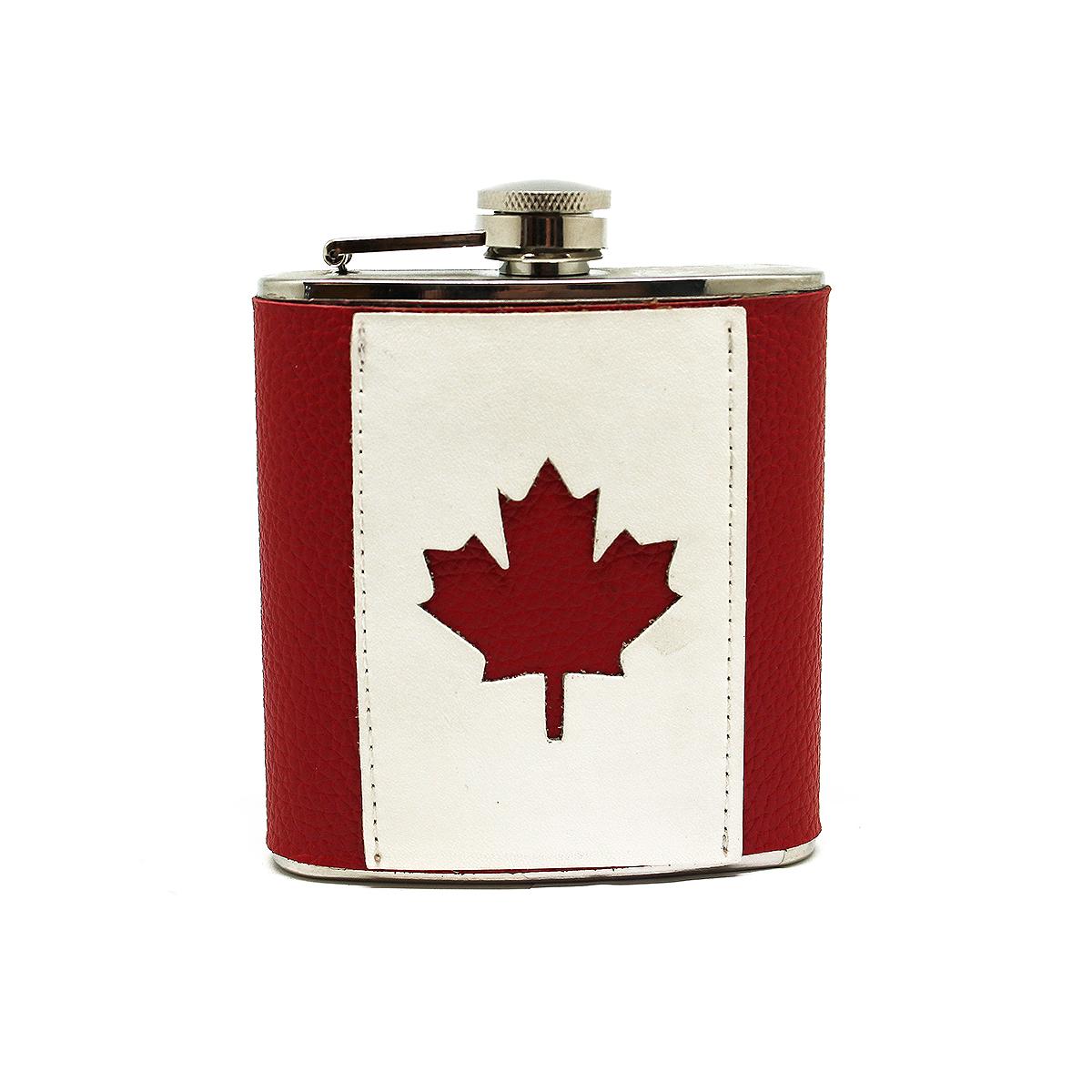 Фляга Экспедиция Канада, 0,17 лeflgs-01Фляга Экспедиция Канада - отличный подарок для всех ценителей изысканного стиля и практичности! Высококачественная нержавеющая сталь в сочетании с отделкой из натуральной кожи, окрашенной в цвета канадского флага. Фляга на самом деле очень практична: ее можно взять с собой куда угодно, ведь она занимает совсем немного места в вашем рюкзаке, сумке и даже кармане.Поспешите приобрести флягу Канада - порадуйте себя стильной и практичной вещью!Объем: 0,17 л.Размеры: 95 х 115 х 30 мм.