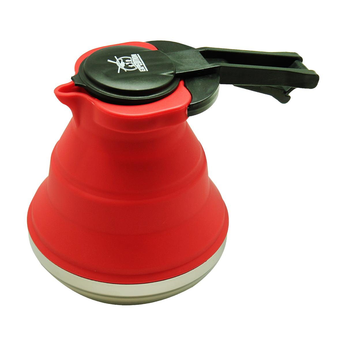 Чайник  Экспедиция , силиконовый, цвет: красный, 1,5 л - Туристическая посуда