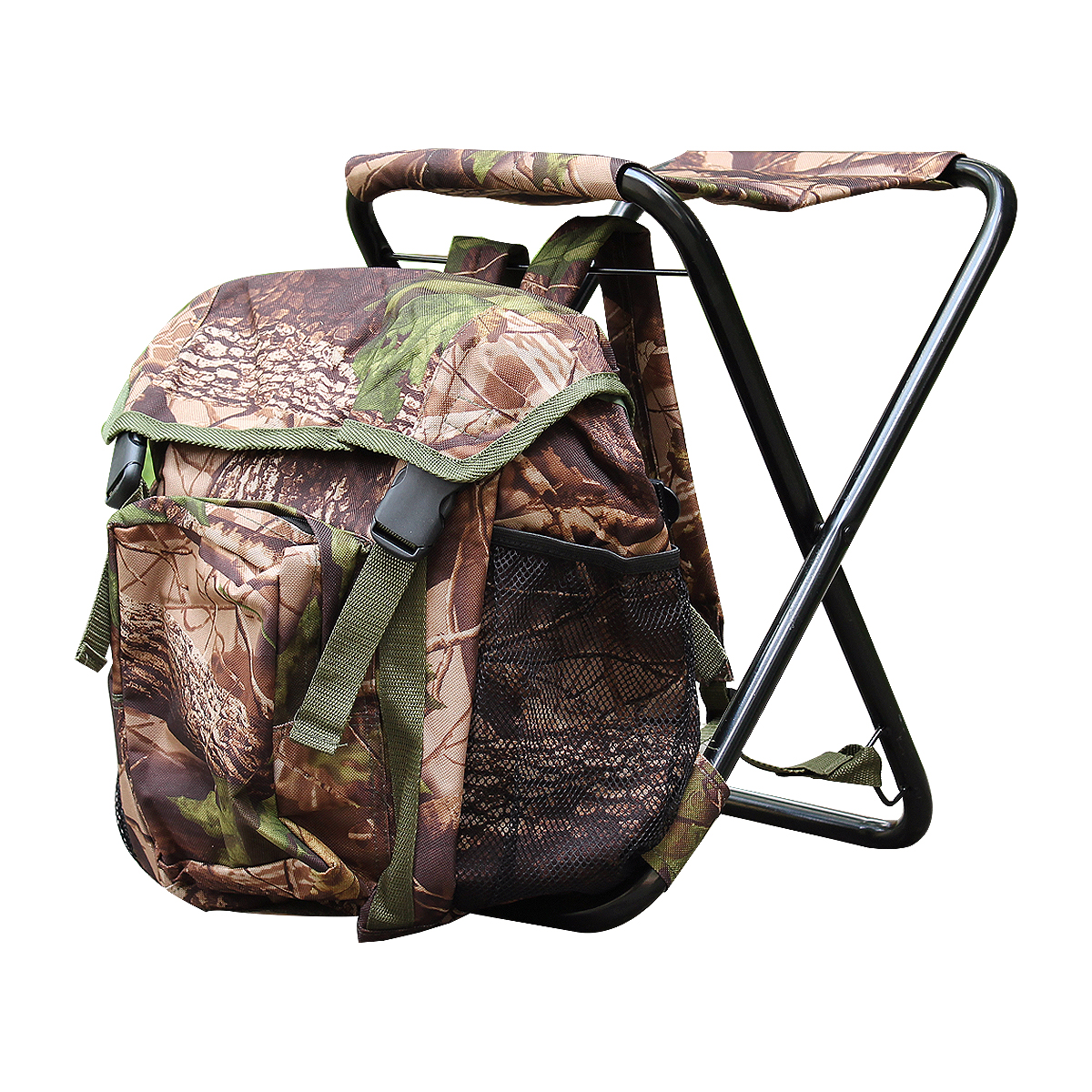 Стул-рюкзак Экспедиция  Сезон охоты , камуфлированный, цвет: хаки - Складная и надувная мебель