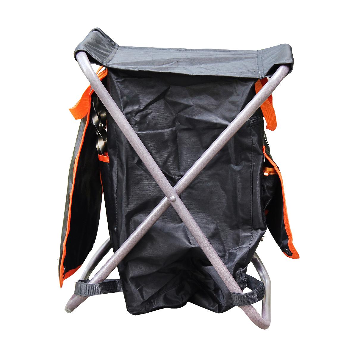 Стул складной Экспедиция  На привале , цвет: черный, оранжевый - Складная и надувная мебель