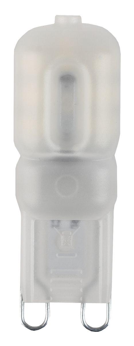 Лампа светодиодная ЭРА, цоколь G9, 170-265V, 3W, 4000КC0044702Светодиодная лампа ЭРА является самым перспективным источником света. Основным преимуществом данного источника света является длительный срок службы и очень низкое энергопотребление, так, например, по сравнению с обычной лампой накаливания светодиодная лампа служит в среднем в 50 раз дольше и потребляет в 10-15 раз меньше электроэнергии. При этом светодиодная лампа практически не подвержена механическому воздействию из-за прочной конструкции и позволяет получить любой цвет светового потока, что, несомненно, расширяет возможности применения и позволяет создавать новые решения в области освещения.
