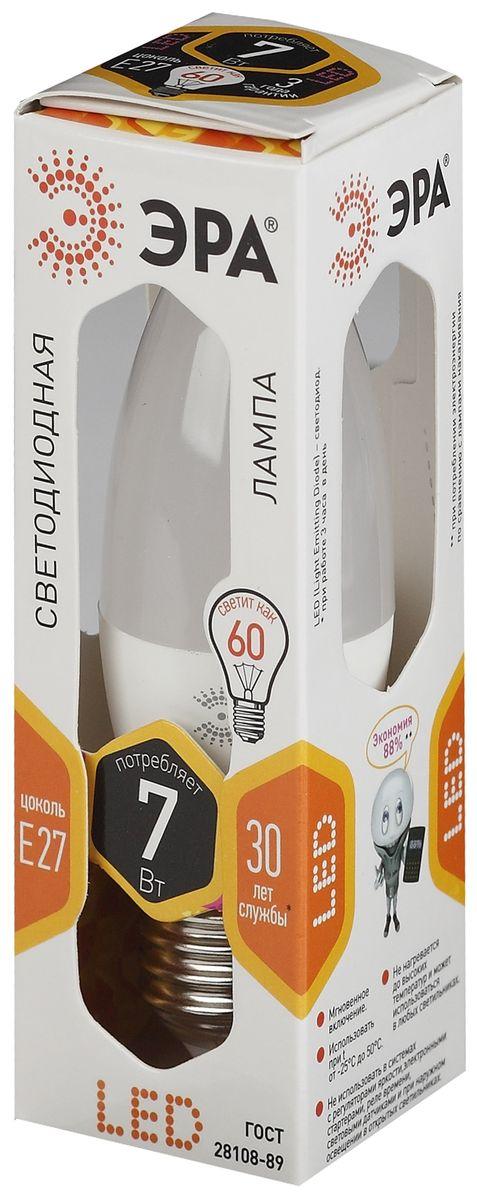 Лампа светодиодная ЭРА Clear, цоколь E27, 170-265V, 7W, 2700К5055945503050Светодиодная лампа ЭРА Clear является самым перспективным источником света. Основным преимуществом данного источника света является длительный срок службы и очень низкое энергопотребление, так, например, по сравнению с обычной лампой накаливания светодиодная лампа служит в среднем в 50 раз дольше и потребляет в 10-15 раз меньше электроэнергии. При этом светодиодная лампа практически не подвержена механическому воздействию из-за прочной конструкции и позволяет получить любой цвет светового потока, что, несомненно, расширяет возможности применения и позволяет создавать новые решения в области освещения.Светодиодная лампа серии Clear предназначена для хрустальных люстр. При их использовании хрусталь играет под яркими лучами. Угол рассеивания светового потока 270 градусов. Совместима с выключателями с подсветкой.