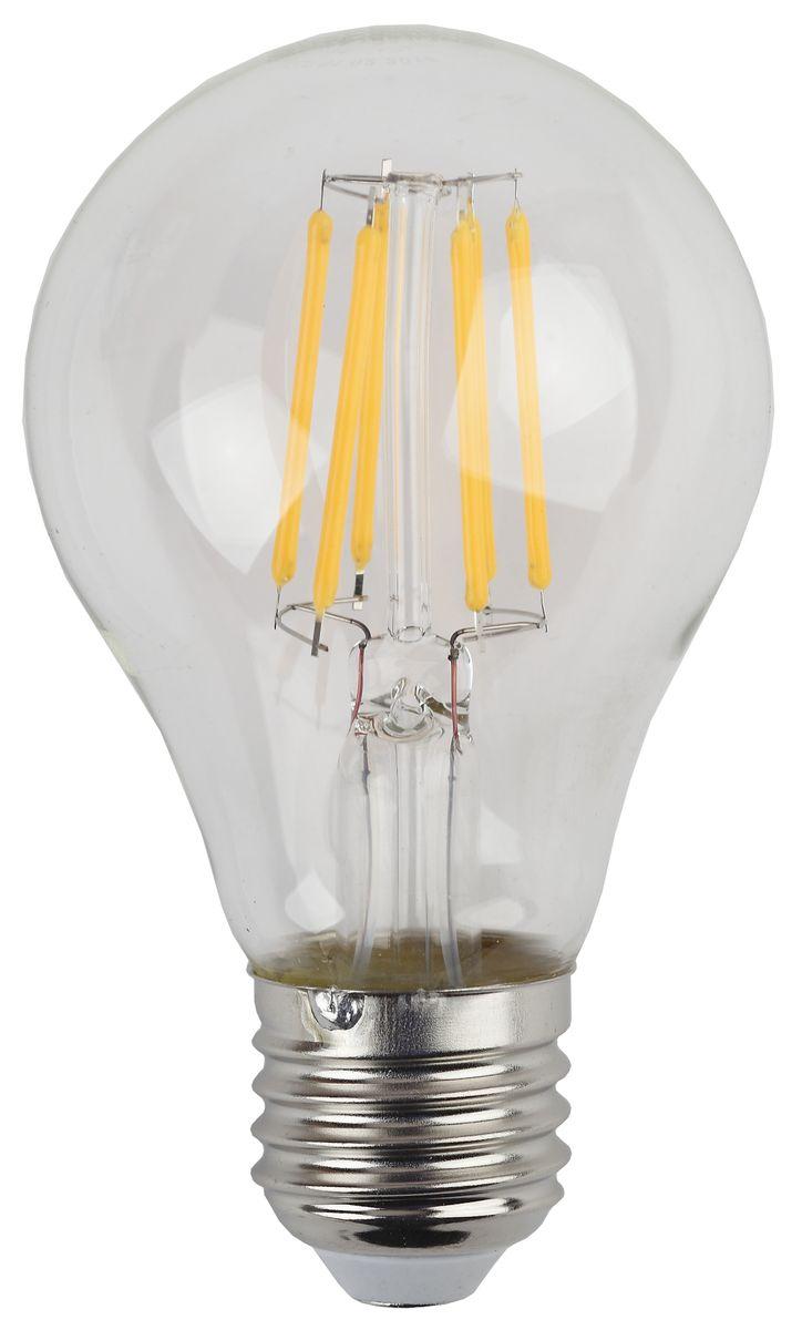 Лампа светодиодная ЭРА F-LED, цоколь E27, 170-265V, 7W, 2700КC0042416Светодиодная лампа ЭРА F-LED является самым перспективным источником света. Основным преимуществом данного источника света является длительный срок службы и очень низкое энергопотребление, так, например, по сравнению с обычной лампой накаливания светодиодная лампа служит в среднем в 50 раз дольше и потребляет в 10-15 раз меньше электроэнергии. При этом светодиодная лампа практически не подвержена механическому воздействию из-за прочной конструкции и позволяет получить любой цвет светового потока, что, несомненно, расширяет возможности применения и позволяет создавать новые решения в области освещения.Максимально похожа на лампу накаливания, может использоваться в дизайнерских интерьерах. Угол рассеивания светового потока 360 градусов.