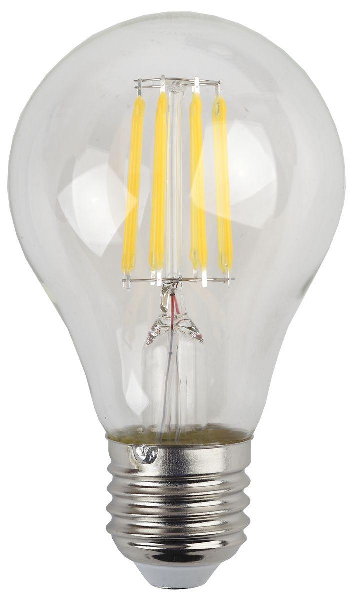 Лампа светодиодная ЭРА F-LED, цоколь E27, 170-265V, 9W, 4000КC0044702Светодиодная лампа ЭРА F-LED является самым перспективным источником света. Основным преимуществом данного источника света является длительный срок службы и очень низкое энергопотребление, так, например, по сравнению с обычной лампой накаливания светодиодная лампа служит в среднем в 50 раз дольше и потребляет в 10-15 раз меньше электроэнергии. При этом светодиодная лампа практически не подвержена механическому воздействию из-за прочной конструкции и позволяет получить любой цвет светового потока, что, несомненно, расширяет возможности применения и позволяет создавать новые решения в области освещения.Максимально похожа на лампу накаливания, может использоваться в дизайнерских интерьерах. Угол рассеивания светового потока 360 градусов.