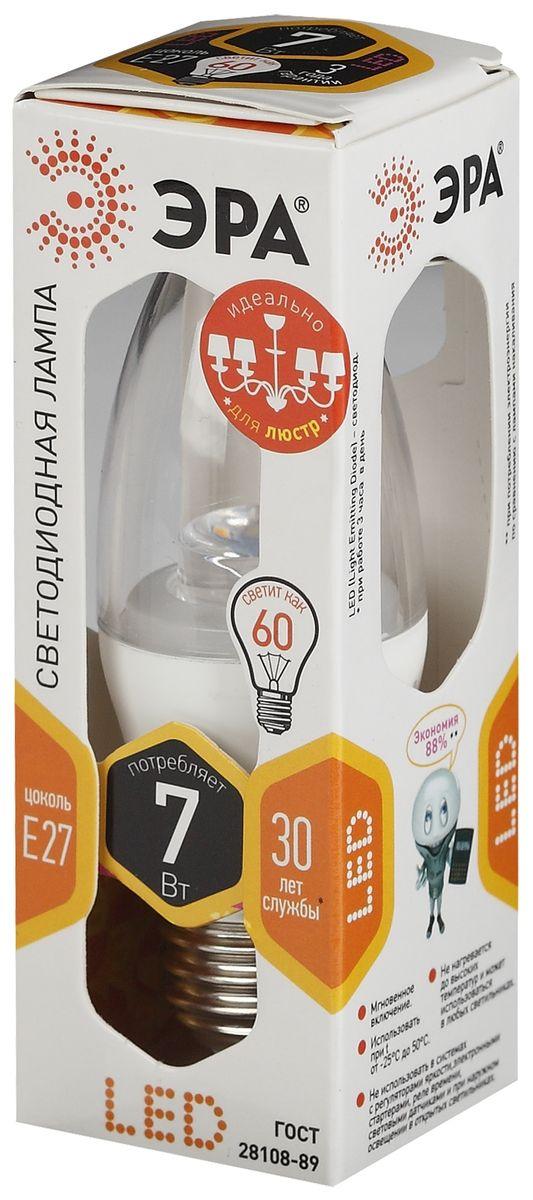 Лампа светодиодная ЭРА Clear, цоколь E27, 170-265V, 7W, 2700К. B35-7w-827-E27-ClearC0044702Светодиодная лампа ЭРА Clear является самым перспективным источником света. Основным преимуществом данного источника света является длительный срок службы и очень низкое энергопотребление, так, например, по сравнению с обычной лампой накаливания светодиодная лампа служит в среднем в 50 раз дольше и потребляет в 10-15 раз меньше электроэнергии. При этом светодиодная лампа практически не подвержена механическому воздействию из-за прочной конструкции и позволяет получить любой цвет светового потока, что, несомненно, расширяет возможности применения и позволяет создавать новые решения в области освещения.Светодиодная лампа серии Clear предназначена для хрустальных люстр. При их использовании хрусталь играет под яркими лучами. Угол рассеивания светового потока 270 градусов. Совместима с выключателями с подсветкой.